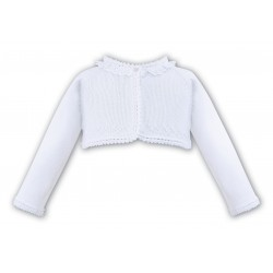 SARAH LOUISE WHITE BABY GIRL CHRISTENING CARDIGAN STYLE 006686