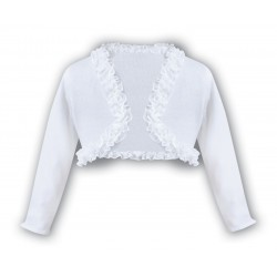 Sarah Louise White Baby Girl Christening Cardigan Style 006675