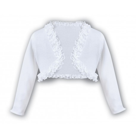 Sarah Louise White Baby Girl Christening Cardigan Style 006675