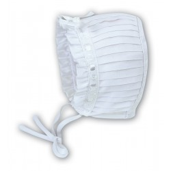 Sarah Louise White Baby Girl Christening Bonnet Style 003625