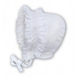 Sarah Louise White Baby Girl Christening Bonnet Style 003622