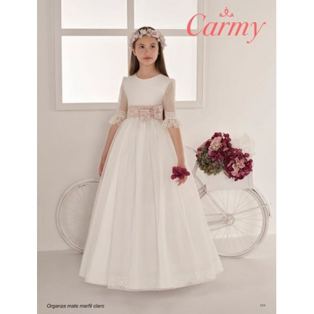 Handmade Ivory Elegant First Holy Communion Dress Style 111