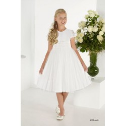 Handmade Ivory First Holy Communion Ballerina Length Dress Style 8715