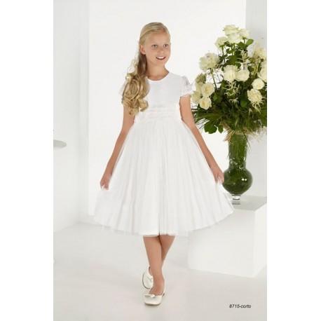 Handmade Ivory First Holy Communion Ballerina Length Dress Style 8715