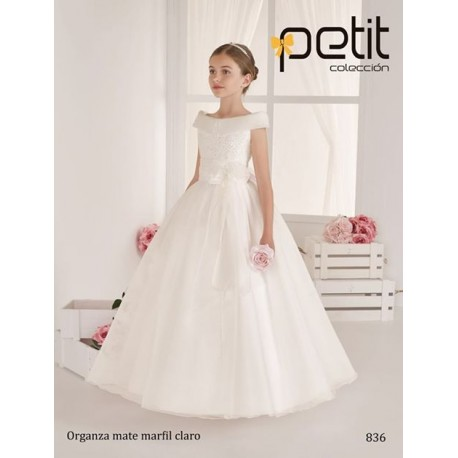 Handmade Unusual Ivory First Holy Communion Dress Style 836