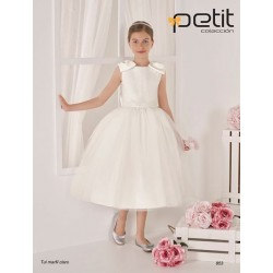 Handmade Ivory First Holy Communion Ballerina Length Dress Style 853