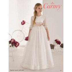 Handmade Elegant Ivory First Holy Communion Dress Style 107