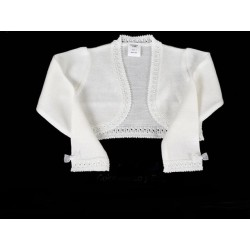 White Handmade First Holy Communion Cardigan Style 5005