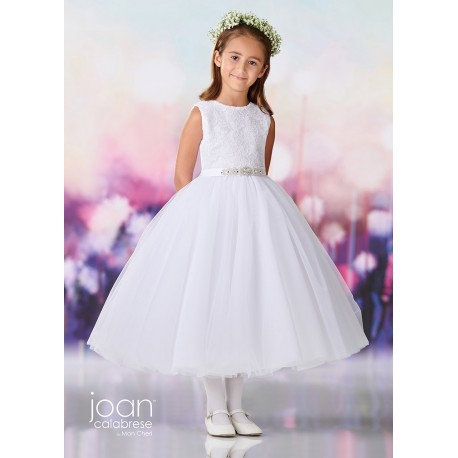 JOAN CALABRESE WHITE FIRST HOLY COMMUNION DRESS STYLE 119390