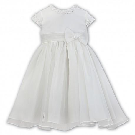 Sarah Louise Ivory Baby Girl Christening Dress Style 070091