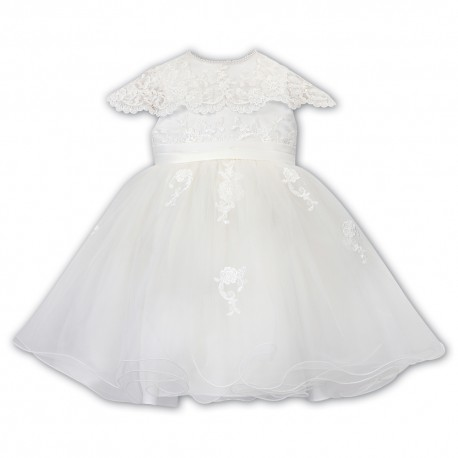 Sarah Louise Ivory Baby Girl Christening Dress Style 070088