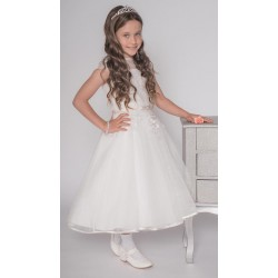 Ivory Handmade Ballerina Length First Holy Communion Dress Style ZYTA