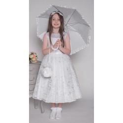 Handmade White First Holy Communion Ballerina Length Dress Style SOPHIA