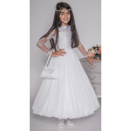 Handmade White First Holy Communion Dress Style PAMELA