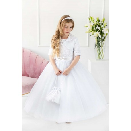Handmade White First Holy Communion Dress Style T-845
