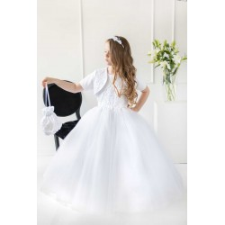 Handmade White First Holy Communion Dress Style T-848