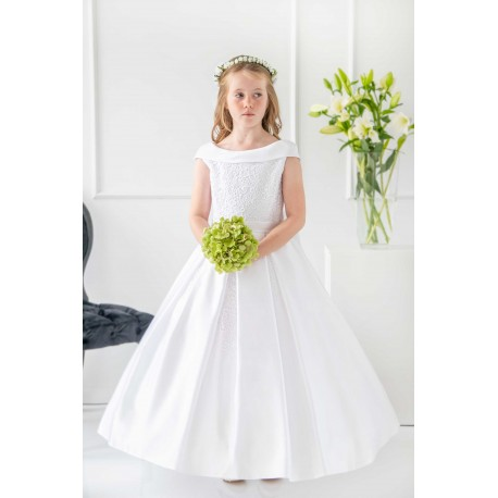 Handmade White First Holy Communion Dress Style T-847