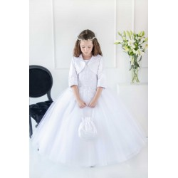 Handmade White First Holy Communion Dress Style T-901