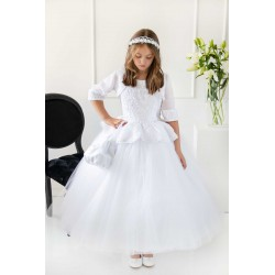 Handmade White First Holy Communion Dress Style T-844