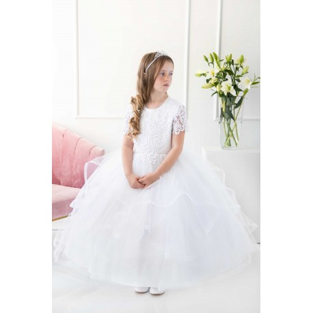 Handmade White First Holy Communion Dress Style T-798