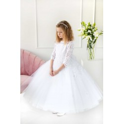 Handmade White First Holy Communion Dress Style T-900