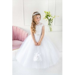 Handmade White First Holy Communion Dress Style T-846