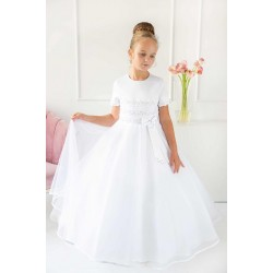 White First Holy Communion Dress Style 1817