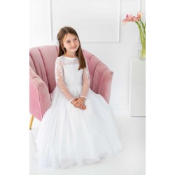 Handmade White First Holy Communion Dress Style PAMELA