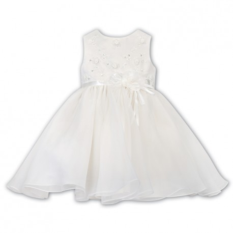 Sarah Louise Ivory Christening Baby Girl Dress Style 070105