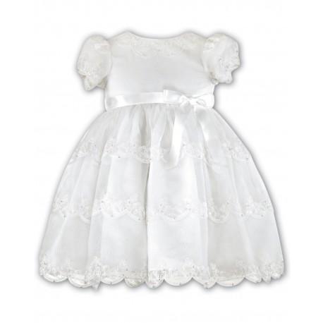 Sarah Louise Ivory Baby Girl Christening Dress Style 070008