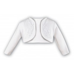 SARAH LOUISE WHITE BABY GIRL CHRISTENING CARDIGAN STYLE 006787