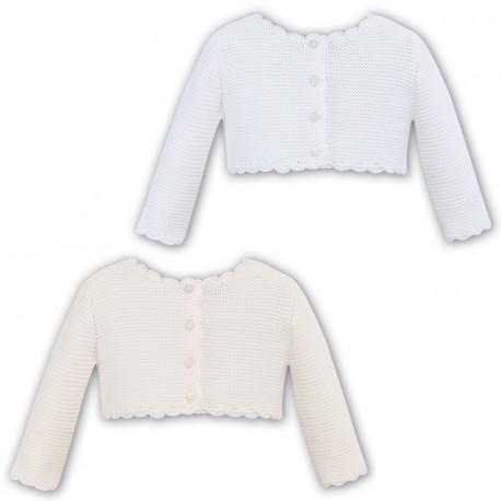 Sarah Louise Ivory Knitted Bolero Style 006719