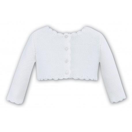Sarah Louise White Knitted Bolero Style 006719