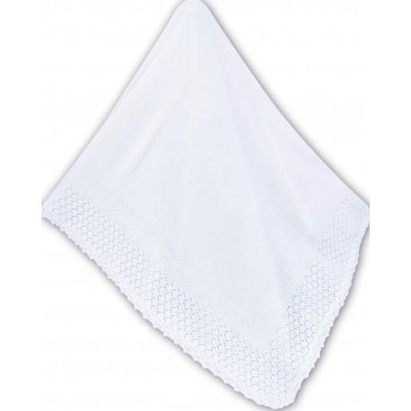 Beautiful White Christening Shawl from Sarah Louise 000008