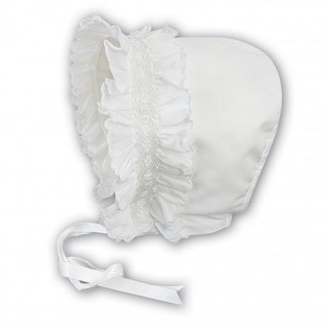 Sarah Louise Ivory Baby Girl Christening Bonnet Style 003622