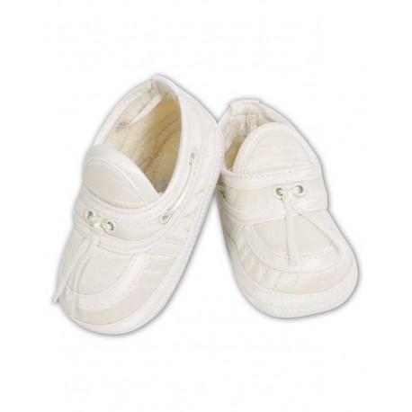 Sarah Louise Ivory Baby Boy Christening Shoes Style 004411