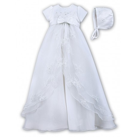 SARAH LOUISE WHITE CHRISTENING GOWN STYLE 001068S