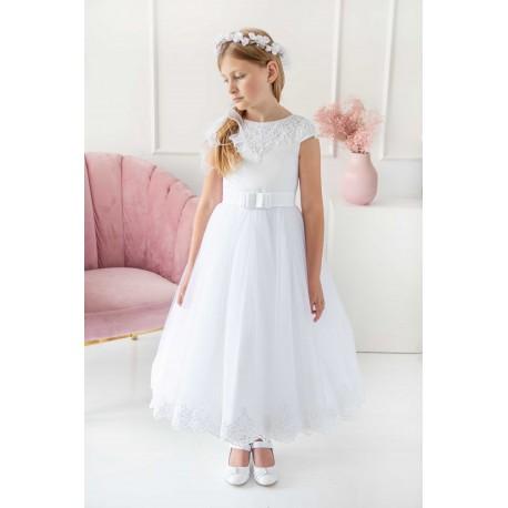Beautiful Ballerina Length First Holy Communion Dress Style BIANKA