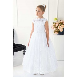Handmade First Holy Communion Tulle&Lace Dress Style BENITTA