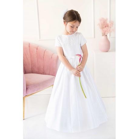 White Handmade First Holy Communion Dress Style SARA BIS