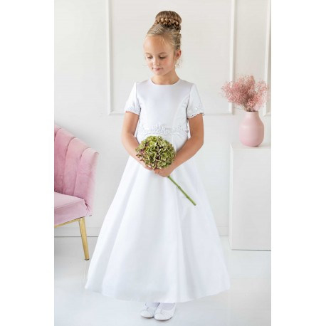 Handmade Satin Floor Length First Holy Communion Dress Style WERA