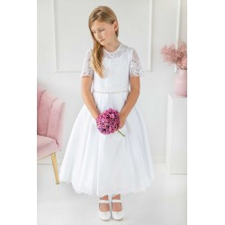 Handmade First Holy Communion Ballerina Length Dress Style VANESSA