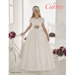 Handmade Ivory Elegant First Holy Communion Dress Style 110