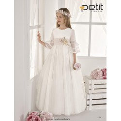 Ivory/Pink Handmade First Holy Communion Dress Style 820
