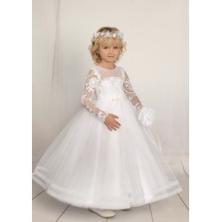 Handmade First Holy Communion Dress Style F01