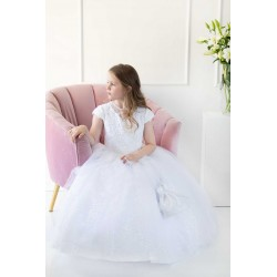 Handmade White First Holy Communion Dress Style T-799