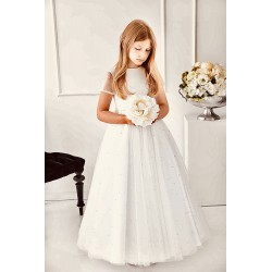 Handmade Ivory First Holy Communion Dress Style IVORY PEARL