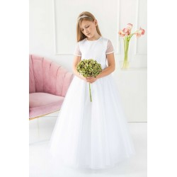 Handmade White First Holy Communion Dress Style EMMY