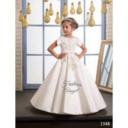 Ivory/Gold First Holy Communion Dress Style 16-1548 BIS