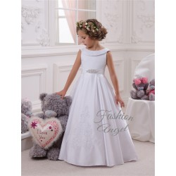White First Holy Communion Dress Style 14-1084